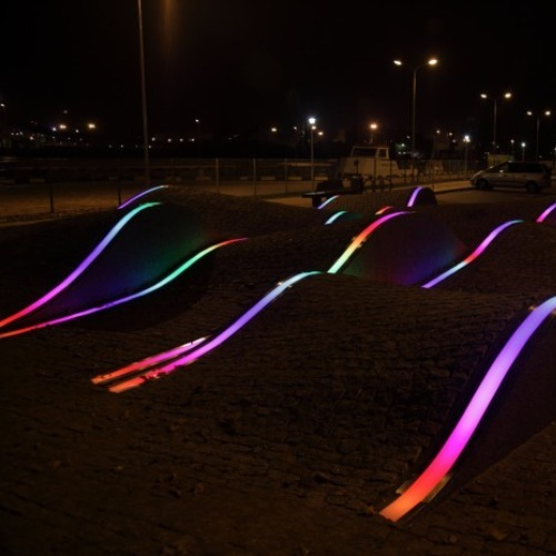 Dynamic Decorative lighting in Ventspils city